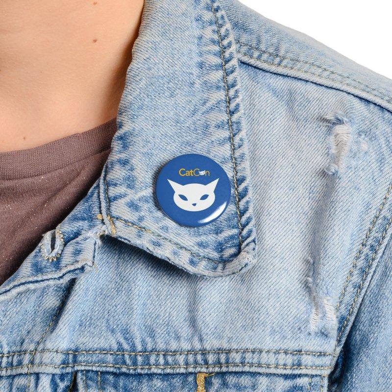 CatCon logo on Blue Accessories Button by CatCon's Artist Shop