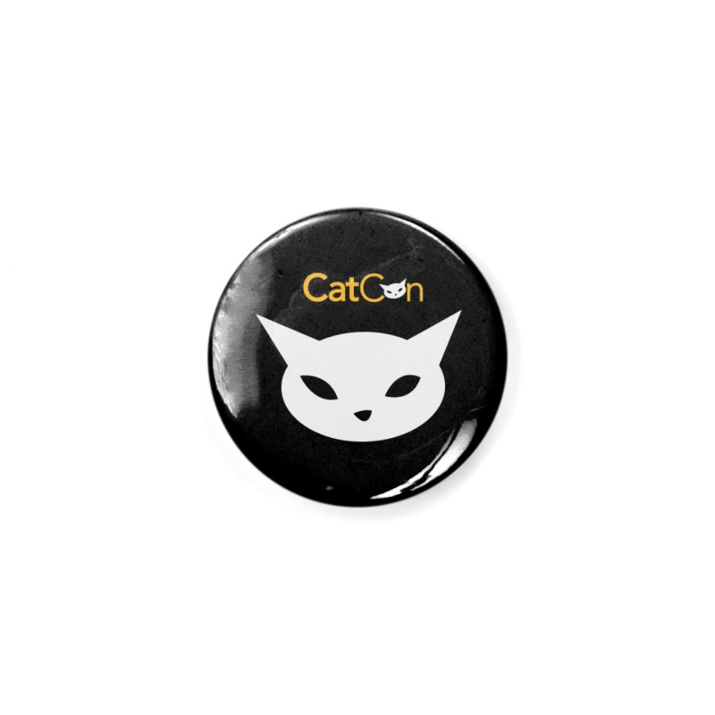 CatCon logo on Black Accessories Button by CatCon's Artist Shop