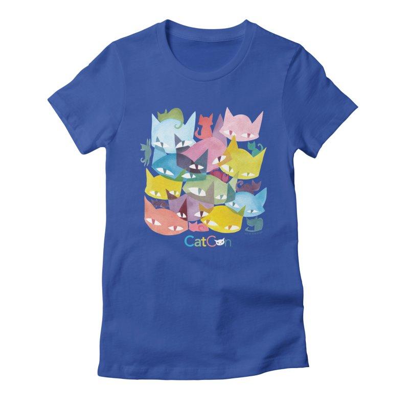 CatCon Cats Women's T-Shirt by CatCon's Artist Shop