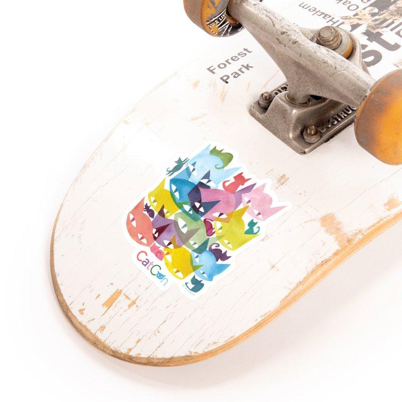 CatCon Cats Accessories Sticker by CatCon's Artist Shop