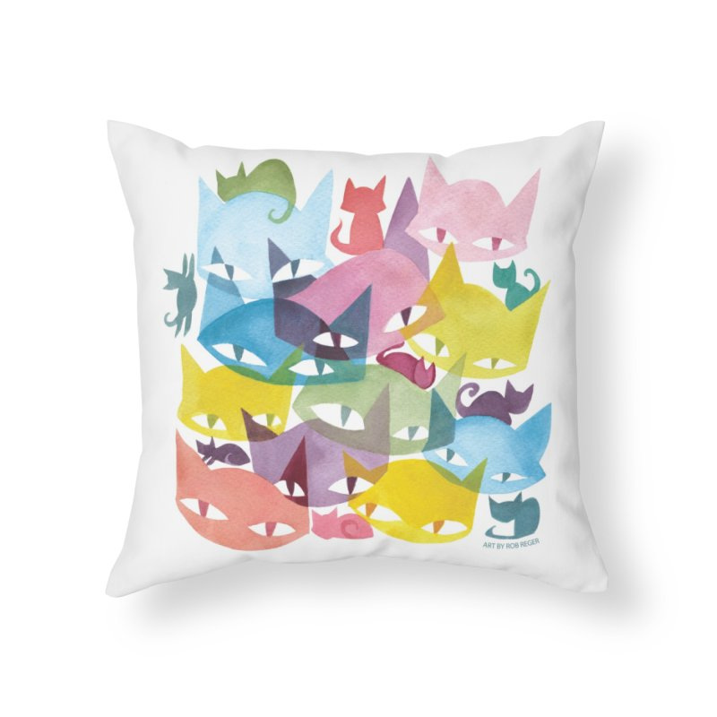 CatCon Cats Home Throw Pillow by CatCon's Artist Shop