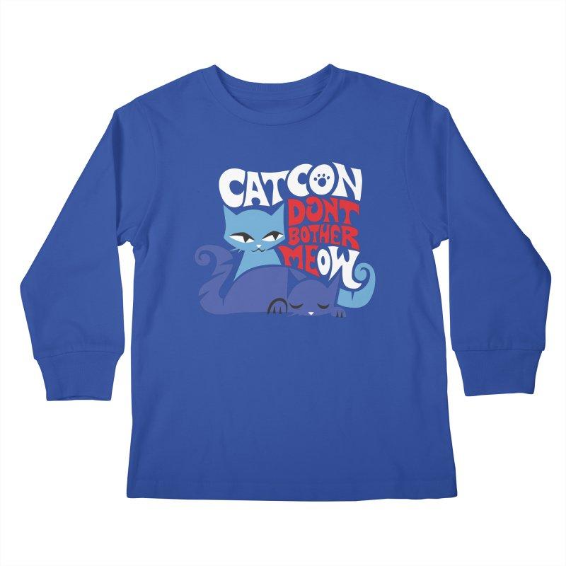 CatCon FILLMORE Kids Longsleeve T-Shirt by CatCon's Artist Shop