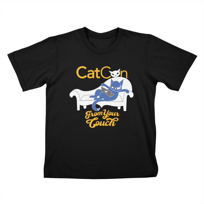 CatCon From Your Couch Kids T-Shirt by CatCon's Artist Shop