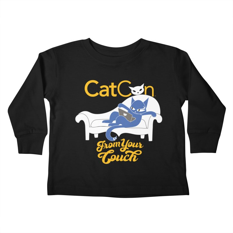 CatCon From Your Couch Kids Toddler Longsleeve T-Shirt by CatCon's Artist Shop