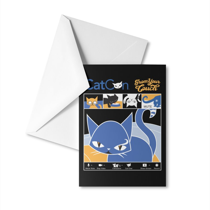 CATCON From Your Couch 2021 Accessories Greeting Card by CatCon's Artist Shop
