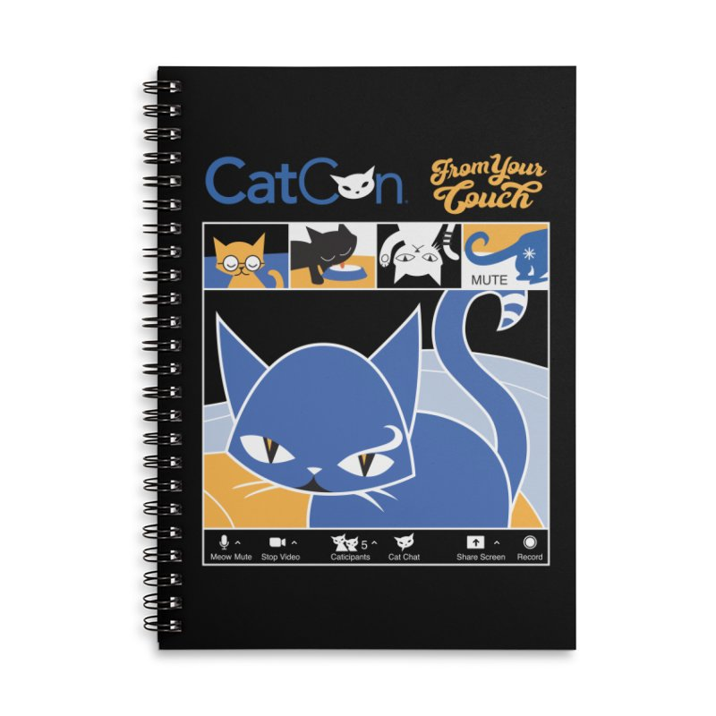 CATCON From Your Couch 2021 Accessories Notebook by CatCon's Artist Shop
