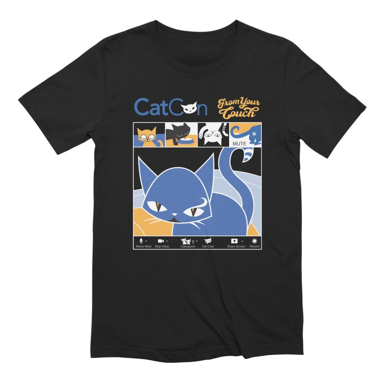 CATCON From Your Couch 2021 Men's T-Shirt by CatCon's Artist Shop
