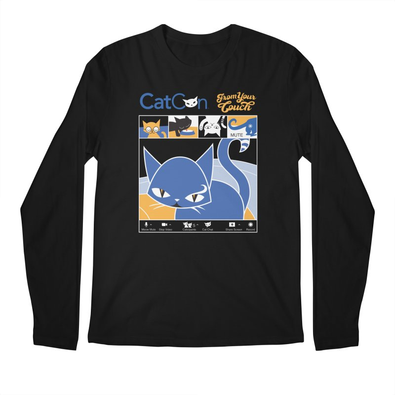 CATCON From Your Couch 2021 Men's Longsleeve T-Shirt by CatCon's Artist Shop