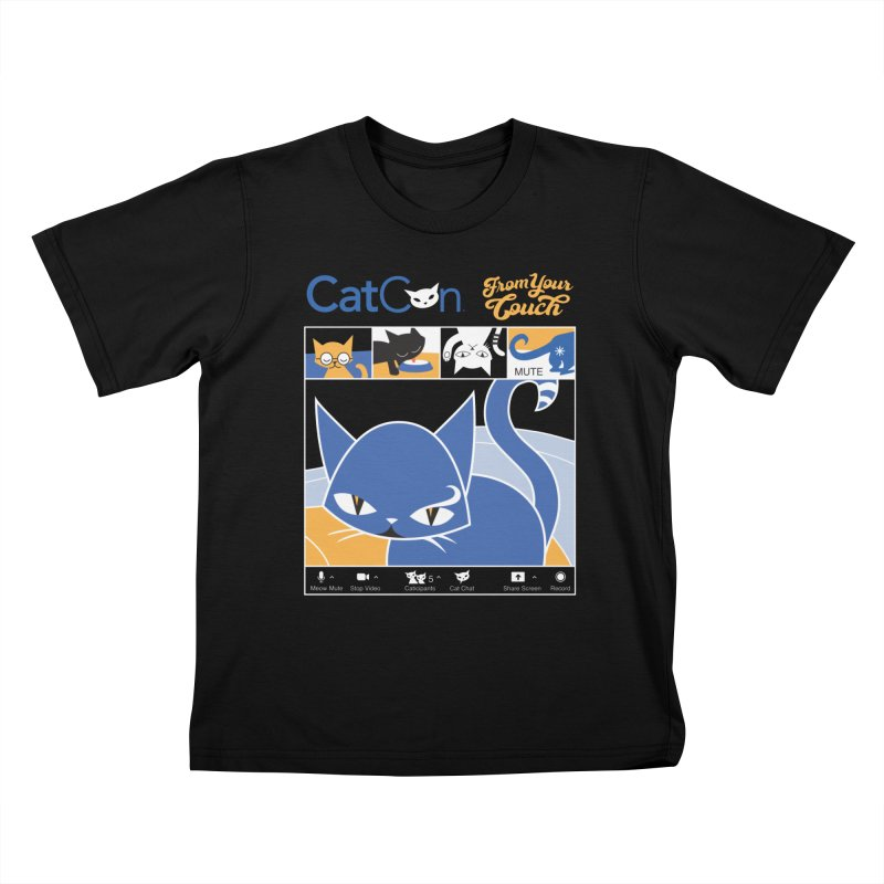 CATCON From Your Couch 2021 Kids T-Shirt by CatCon's Artist Shop