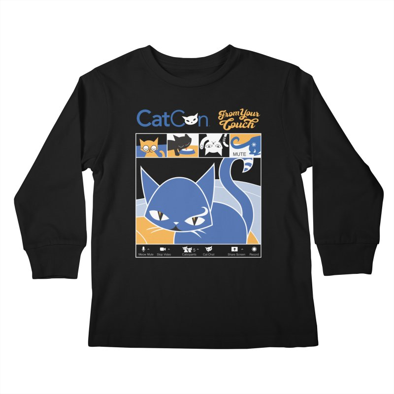CATCON From Your Couch 2021 Kids Longsleeve T-Shirt by CatCon's Artist Shop