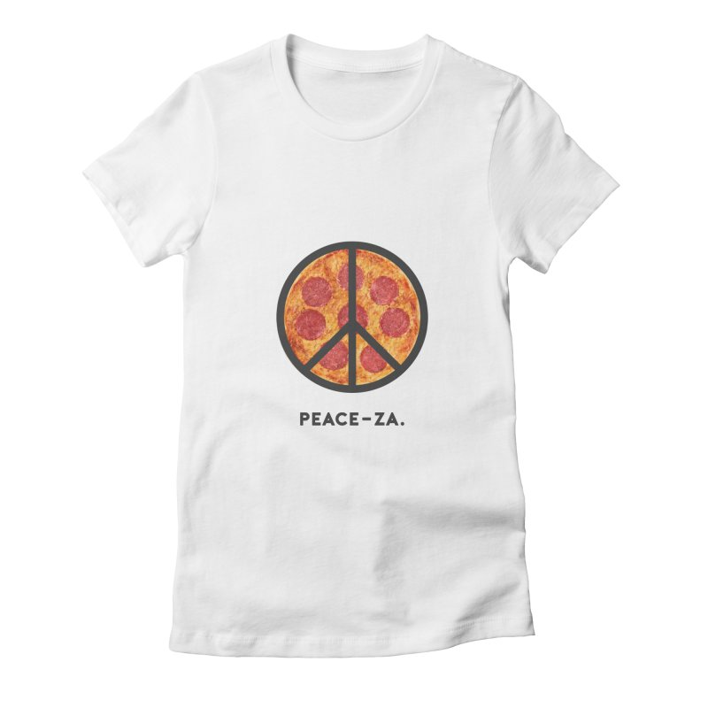 PEACE-ZA. Women's Fitted T-Shirt by Cate Creative