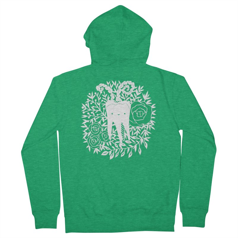 Tooth Witch (White) Women's Zip-Up Hoody by catfriendo's Artist Shop