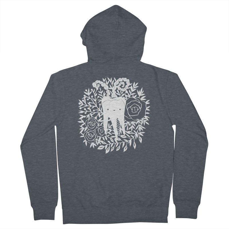 Tooth Witch (White) Men's Zip-Up Hoody by catfriendo's Artist Shop