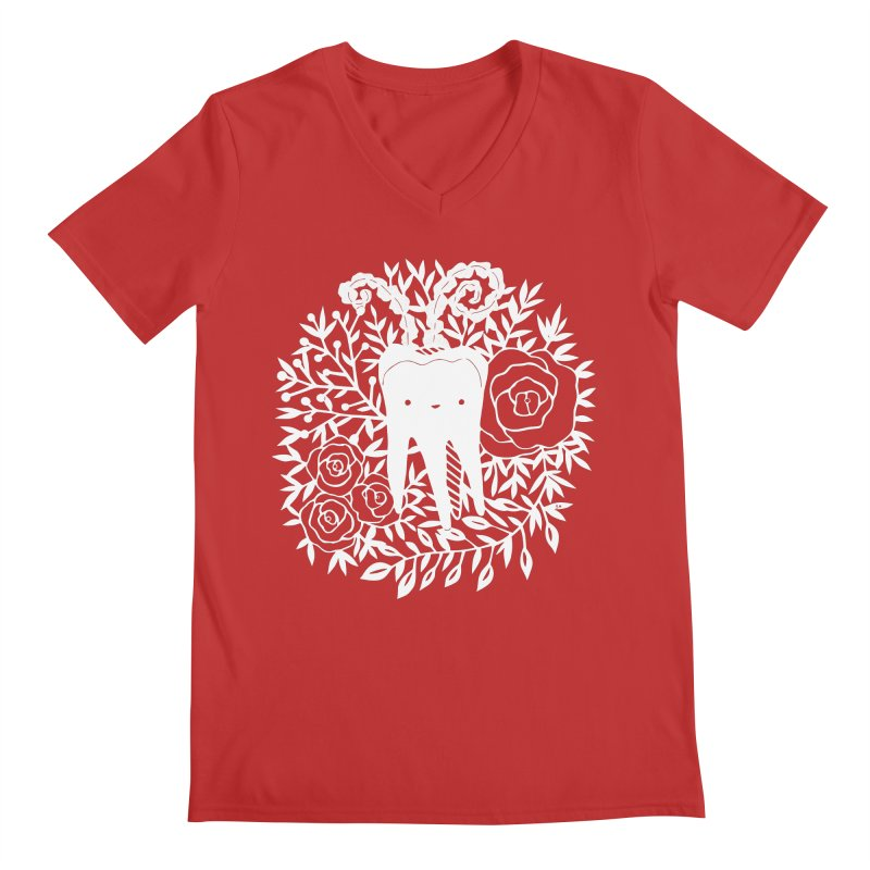 Tooth Witch (White) Men's V-Neck by catfriendo's Artist Shop
