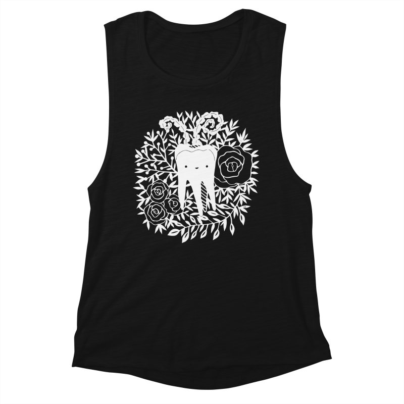 Tooth Witch (White) Women's Tank by catfriendo's Artist Shop