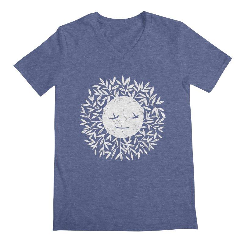 La Luna Men's V-Neck by catfriendo's Artist Shop