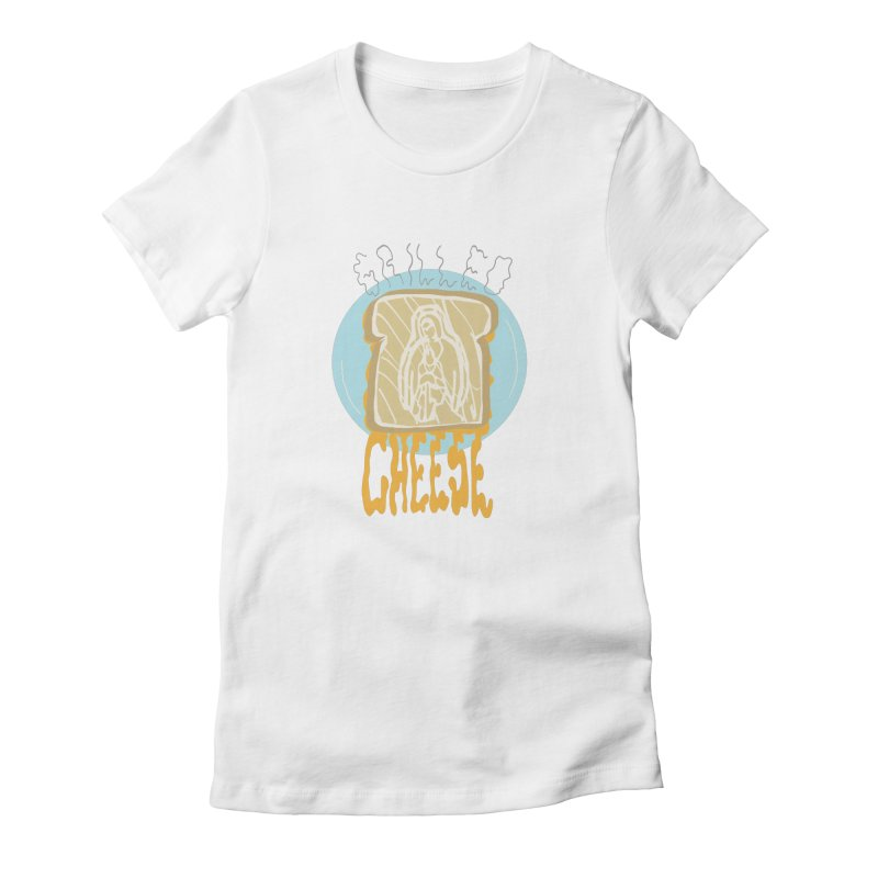 Holy Cheese Women's Fitted T-Shirt by Food & Stuffs