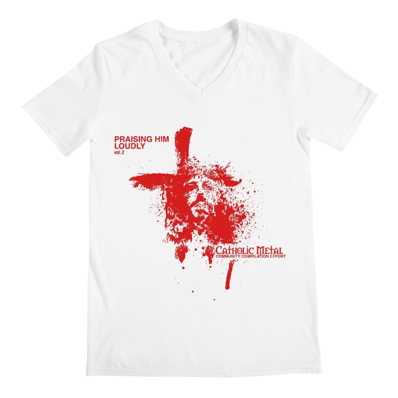 PHL2: Passion of Christ's Crucifixion Men's V-Neck by Catholic Metal Merch