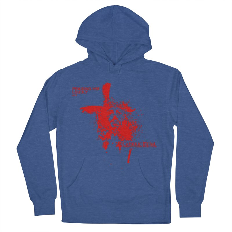 PHL2: Passion of Christ's Crucifixion Women's French Terry Pullover Hoody by Catholic Metal Merch