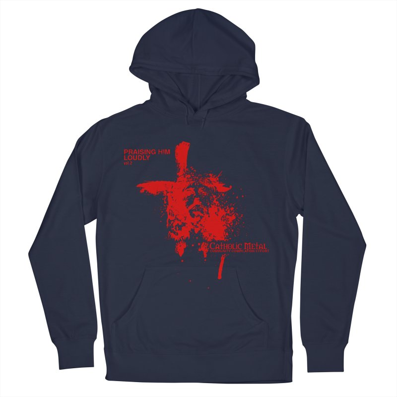 PHL2: Passion of Christ's Crucifixion Men's French Terry Pullover Hoody by Catholic Metal Merch