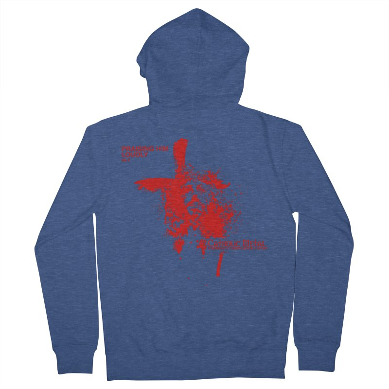 PHL2: Passion of Christ's Crucifixion Women's French Terry Zip-Up Hoody by Catholic Metal Merch