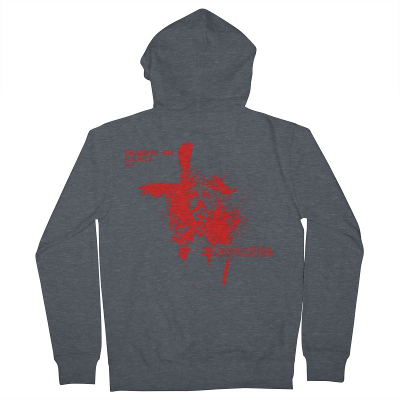 PHL2: Passion of Christ's Crucifixion Women's Zip-Up Hoody by Catholic Metal Merch