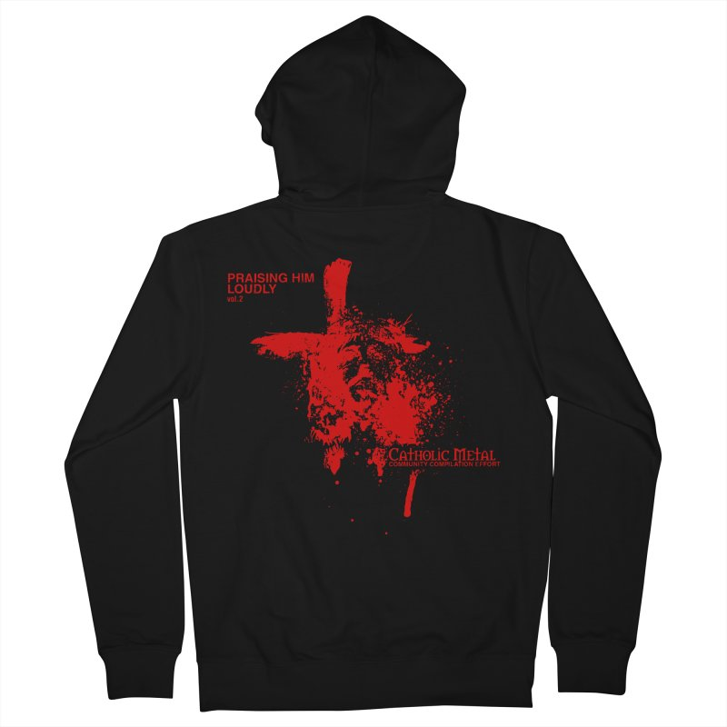 PHL2: Passion of Christ's Crucifixion Men's French Terry Zip-Up Hoody by Catholic Metal Merch