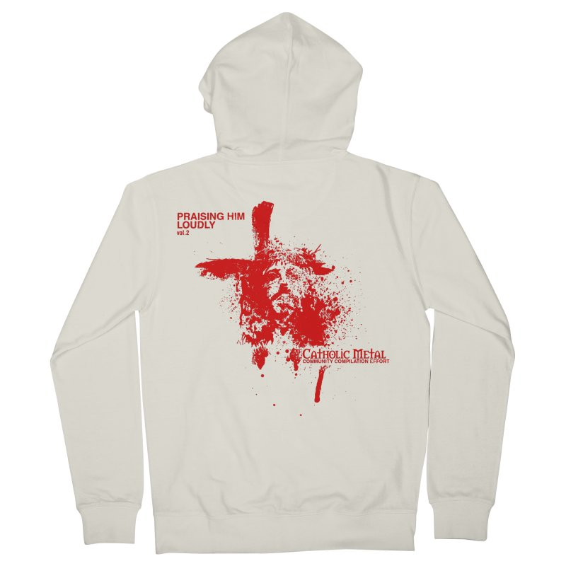 PHL2: Passion of Christ's Crucifixion Men's Zip-Up Hoody by Catholic Metal Merch