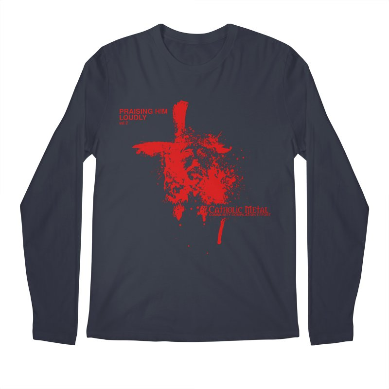 PHL2: Passion of Christ's Crucifixion Men's Regular Longsleeve T-Shirt by Catholic Metal Merch