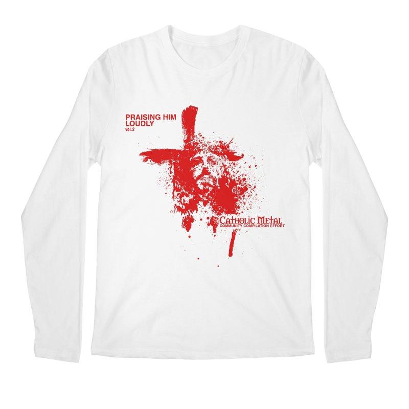 PHL2: Passion of Christ's Crucifixion Men's Longsleeve T-Shirt by Catholic Metal Merch