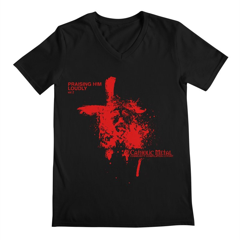 PHL2: Passion of Christ's Crucifixion Men's Regular V-Neck by Catholic Metal Merch