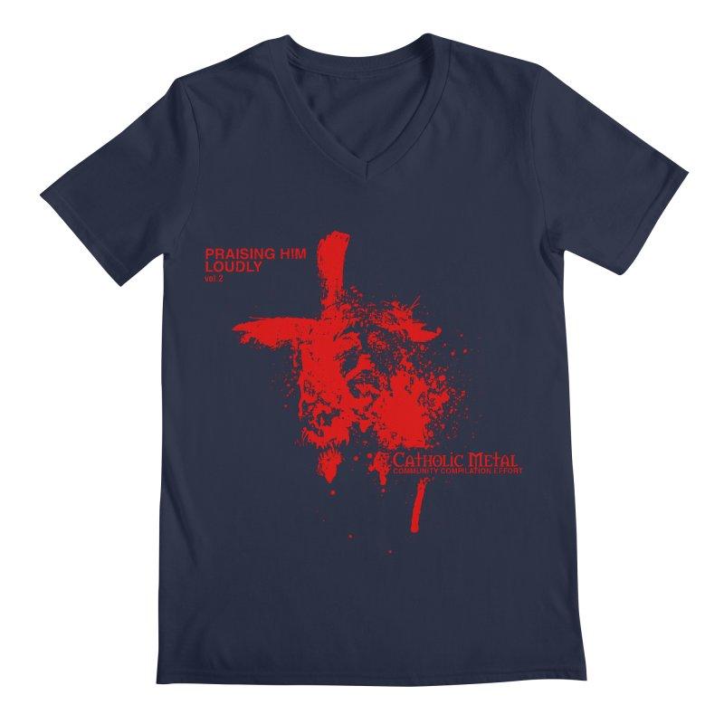 PHL2: Passion of Christ's Crucifixion Men's Regular V-Neck by Catholic Metal Merch