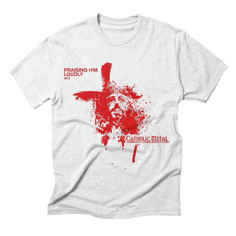 PHL2: Passion of Christ's Crucifixion Men's Triblend T-shirt by Catholic Metal Merch