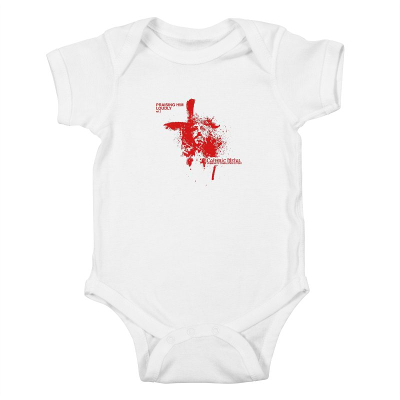 PHL2: Passion of Christ's Crucifixion Kids Baby Bodysuit by Catholic Metal Merch