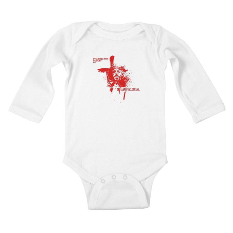 PHL2: Passion of Christ's Crucifixion Kids Baby Longsleeve Bodysuit by Catholic Metal Merch