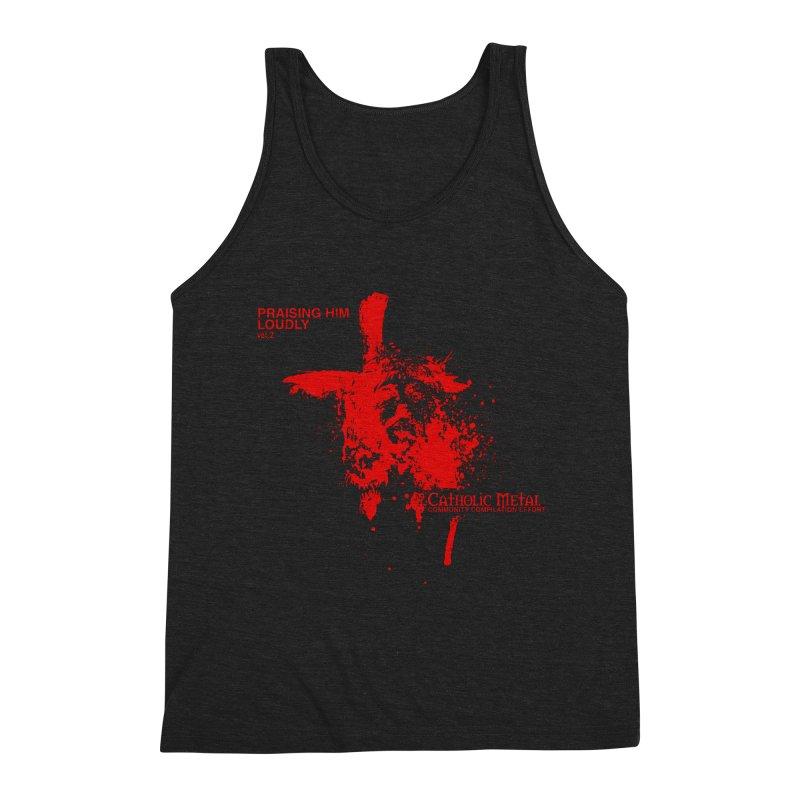 PHL2: Passion of Christ's Crucifixion Men's Tank by Catholic Metal Merch
