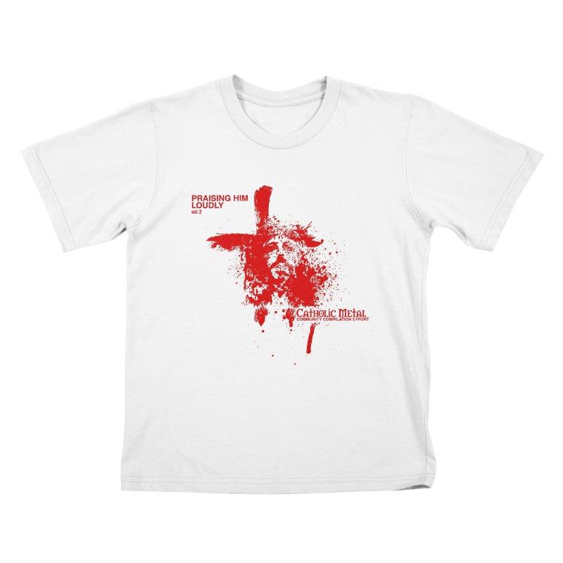 PHL2: Passion of Christ's Crucifixion Kids T-Shirt by Catholic Metal Merch