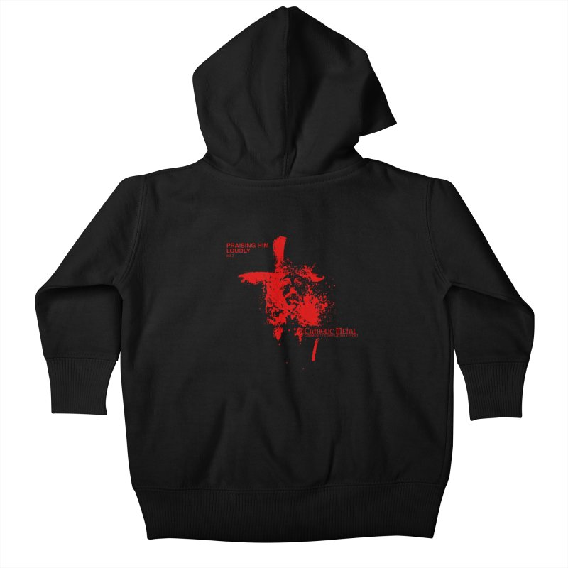 PHL2: Passion of Christ's Crucifixion Kids Baby Zip-Up Hoody by Catholic Metal Merch
