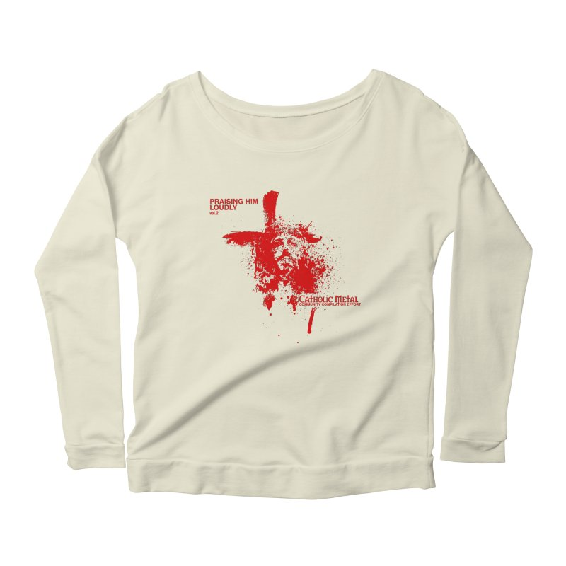 PHL2: Passion of Christ's Crucifixion Women's Longsleeve Scoopneck  by Catholic Metal Merch