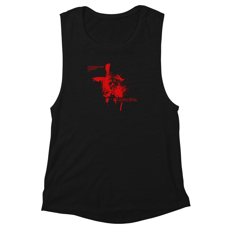PHL2: Passion of Christ's Crucifixion Women's Muscle Tank by Catholic Metal Merch