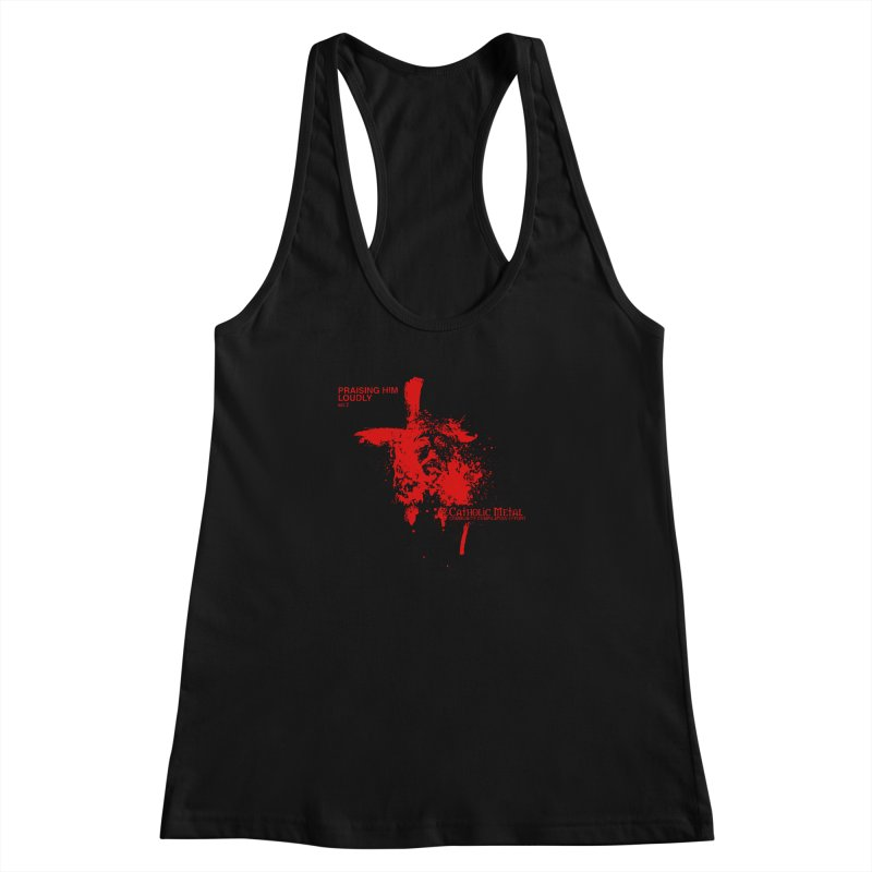 PHL2: Passion of Christ's Crucifixion Women's Racerback Tank by Catholic Metal Merch