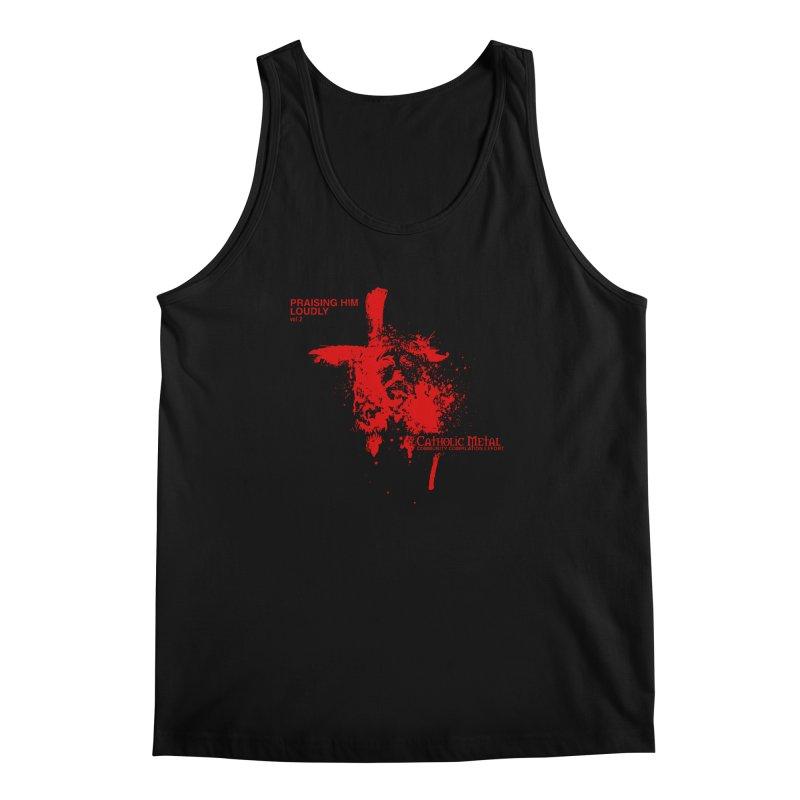 PHL2: Passion of Christ's Crucifixion Men's Regular Tank by Catholic Metal Merch