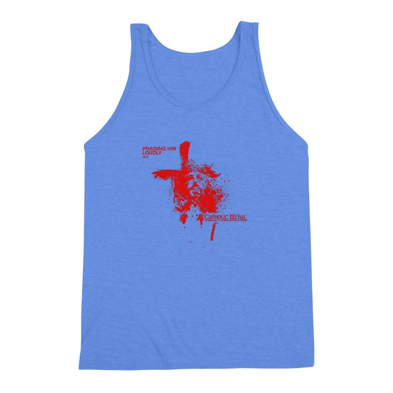 PHL2: Passion of Christ's Crucifixion Men's Triblend Tank by Catholic Metal Merch