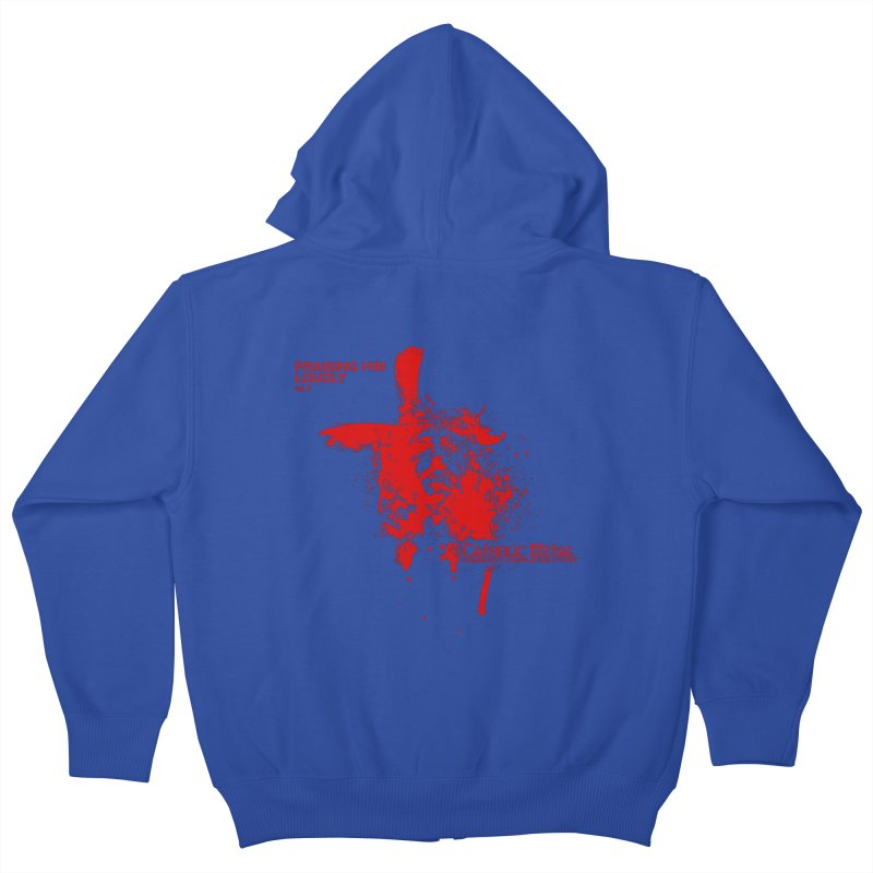PHL2: Passion of Christ's Crucifixion Kids Zip-Up Hoody by Catholic Metal Merch