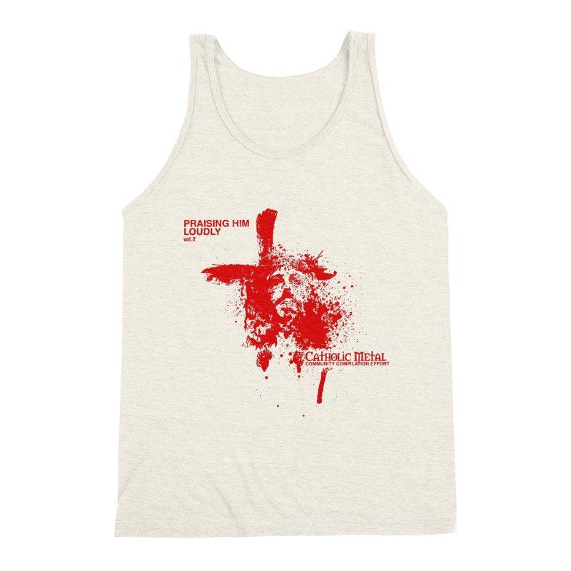 PHL2: Passion of Christ's Crucifixion Men's Triblend Tank by Catholic Metal Merch
