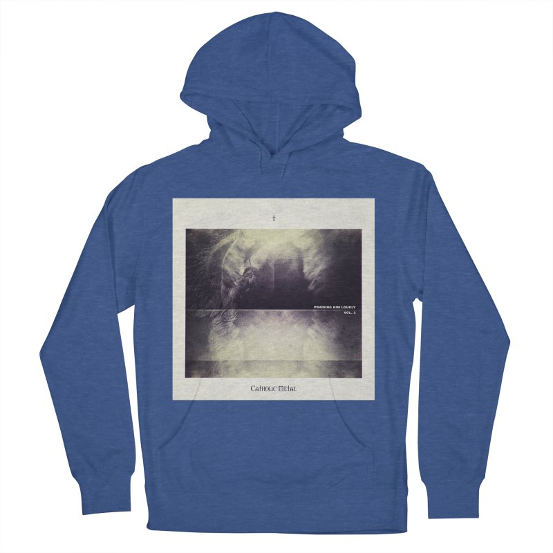 PHL3: Abstract Angel Men's French Terry Pullover Hoody by Catholic Metal Merch