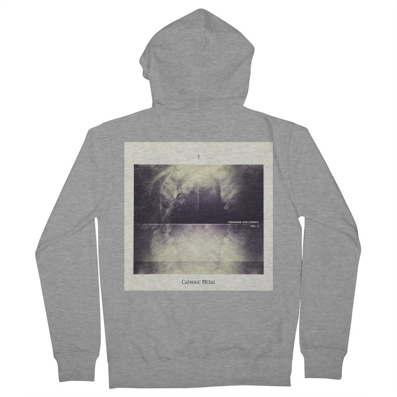 PHL3: Abstract Angel Women's French Terry Zip-Up Hoody by Catholic Metal Merch