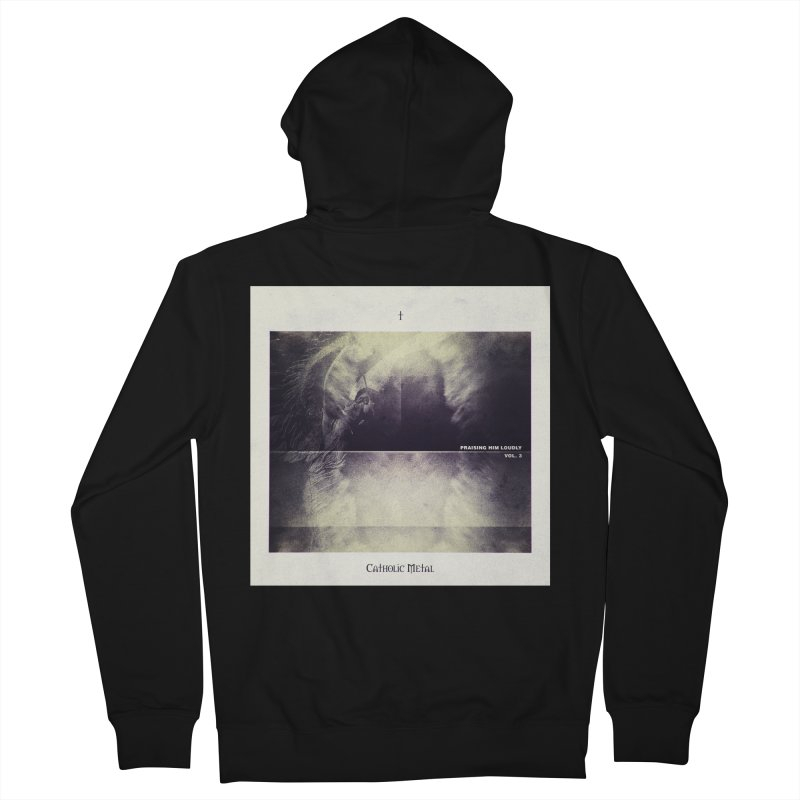 PHL3: Abstract Angel Men's French Terry Zip-Up Hoody by Catholic Metal Merch