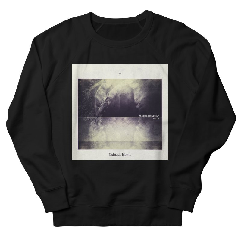 PHL3: Abstract Angel Women's French Terry Sweatshirt by Catholic Metal Merch
