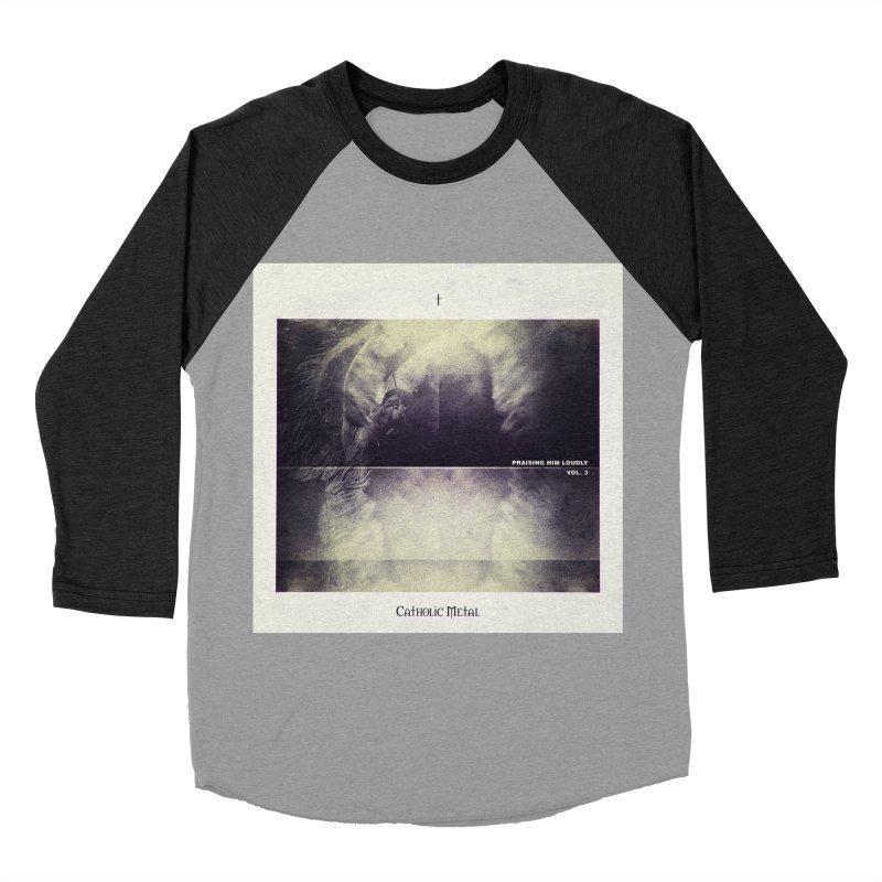 PHL3: Abstract Angel Women's Baseball Triblend Longsleeve T-Shirt by Catholic Metal Merch